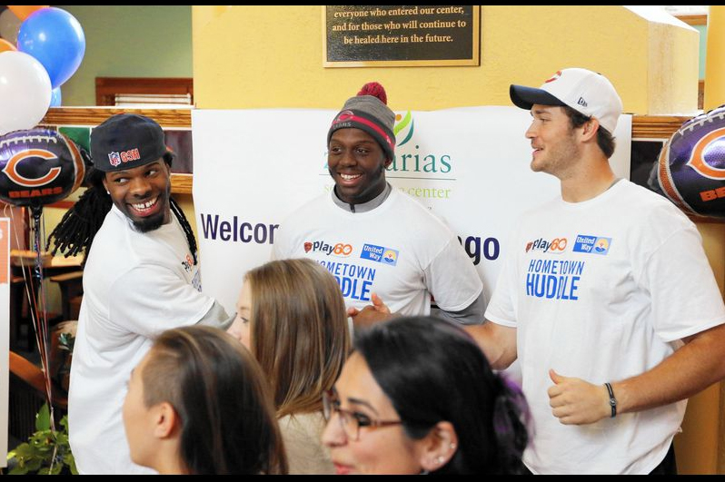 Chicago Bears rookies volunteer at ZCenter
